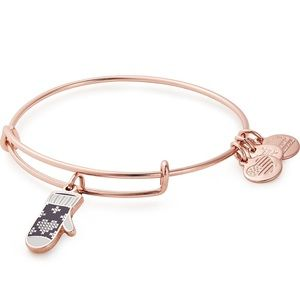 NWT Alex and Ani Mitten Charm Rose Gold Bracelet